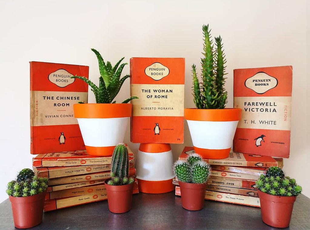 Bookish Plant Pots