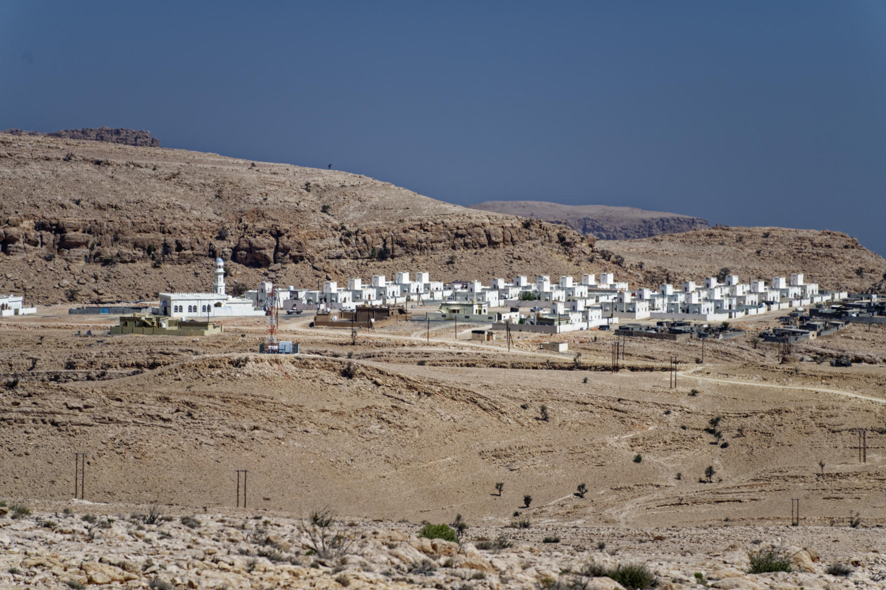 Government-built housing in Hajar mountains