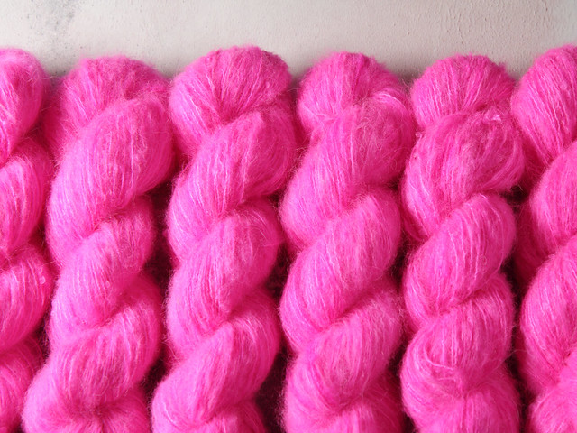 Fuzzy Lace – Brushed Baby Suri Alpaca & Silk hand dyed yarn 25g – 'Be Safe, Be Seen'