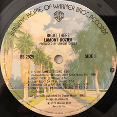 LAMONT DOZIER:RIGHT THERE(LABEL SIDE-A)