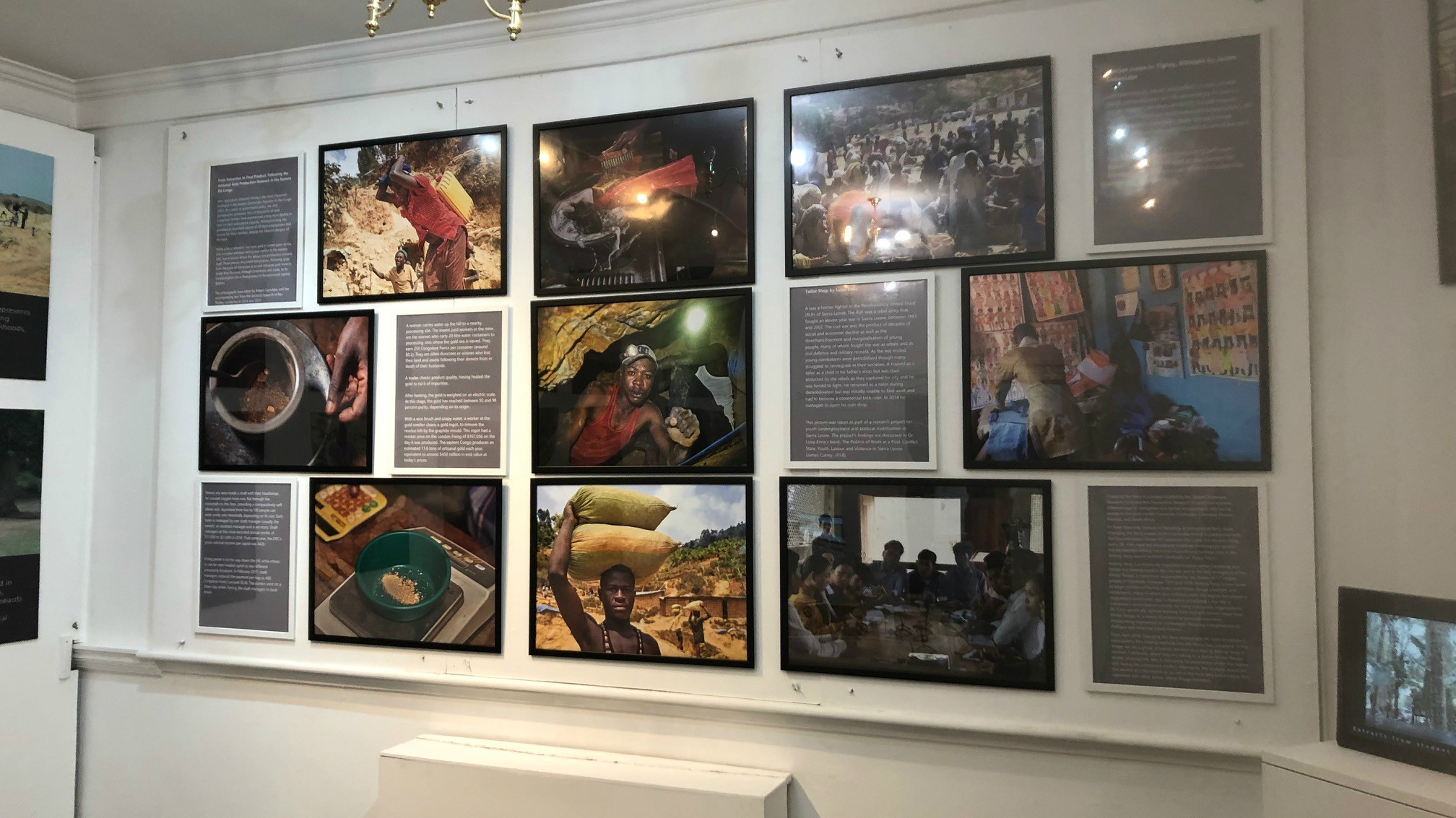 Selection of images from research presented as part of an exhibition