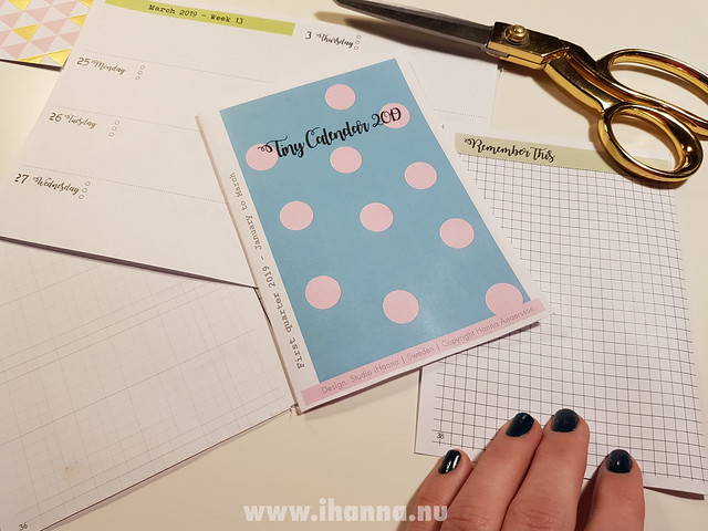 iHannas A6 Planner - polka dot cover in baby blue