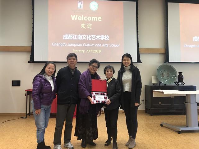 January 23 '19 Chengdu Jiangnan Arts and Culture School Visits Six Arts Center