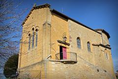 Église du village d'Oingt # Rhône (69) . - Photo of Châtillon