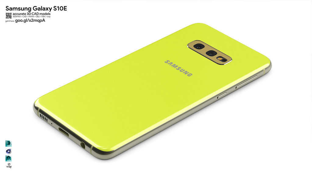 Samsung Galaxy S10 accurate 3D model