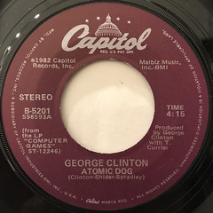 GEORGE CLINTON:ATOMIC DOG(LABEL SIDE-A)