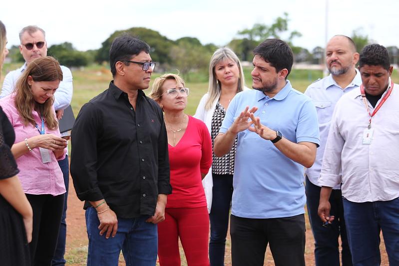 Secretário visita HRGu, UBS 2 do Guará II e terreno onde será construído o Hospital da Região de Saúde Centro-Sul