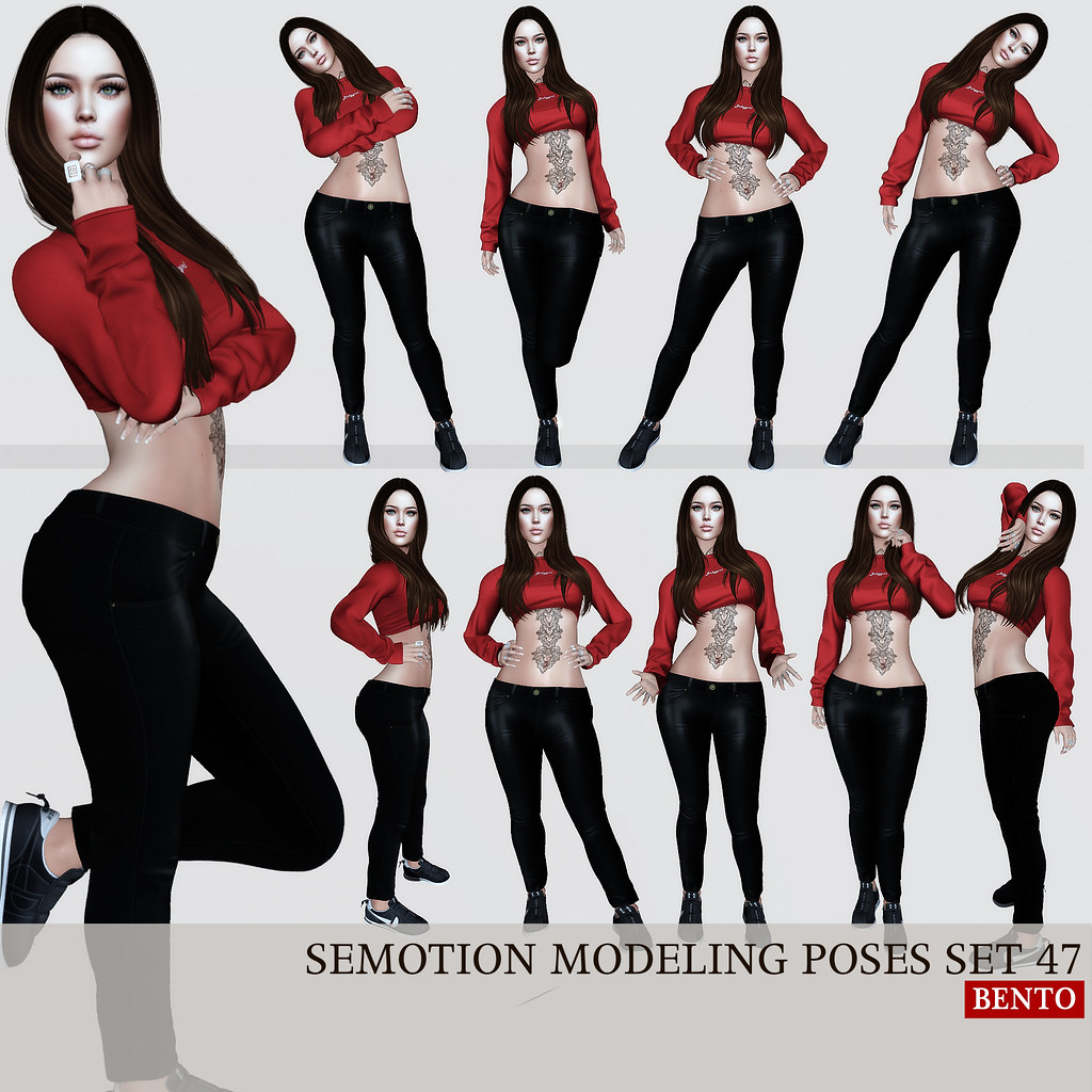 SEmotion Female Bento Modeling poses set 47