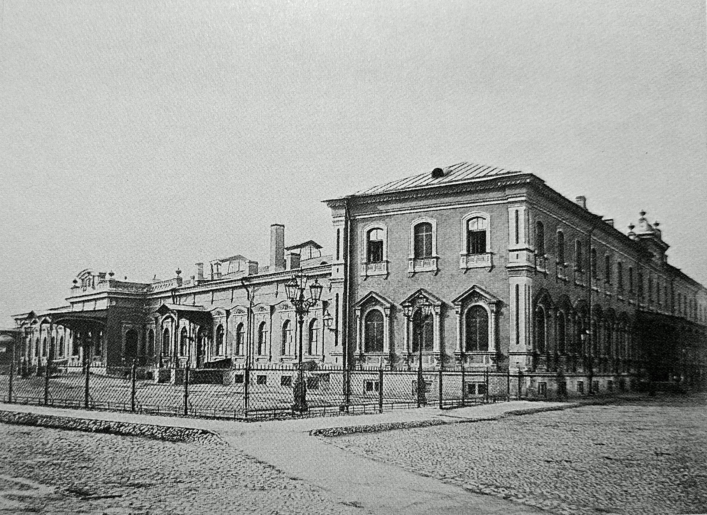 Царскосельский вокзал. 1861