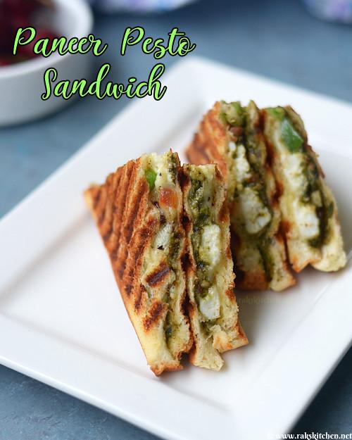 paneer-pesto-sandwich-recipe