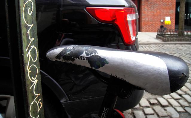 Bicycle saddle, West VillageNYC