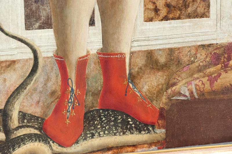 Святой Михаил (створка полиптиха). 1470. Национальная галерея. Лондон