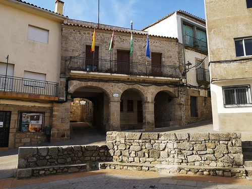 ayuntamiento Plaza de España Villamiel Sierra de Gata Caceres