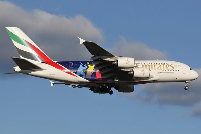A6-EOH Emirates Airbus A380-861