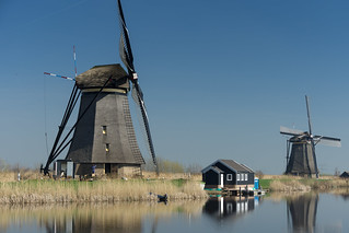 Windmills by Kinderdijk
