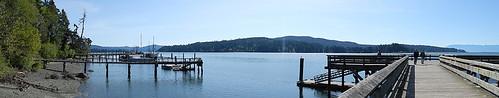 The Boardwalk at Ed McGregor Park in Sooke on Vancouver Island, Canada