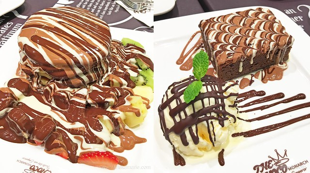 Desserts at The Choco Monarch