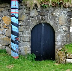 Ancient door in Kirkjubøur