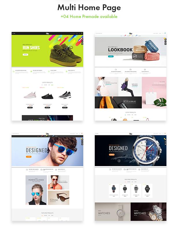 Bos Idu Prestashop Shoes Theme - Mutiple Homepages