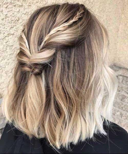 cute short hair braids
