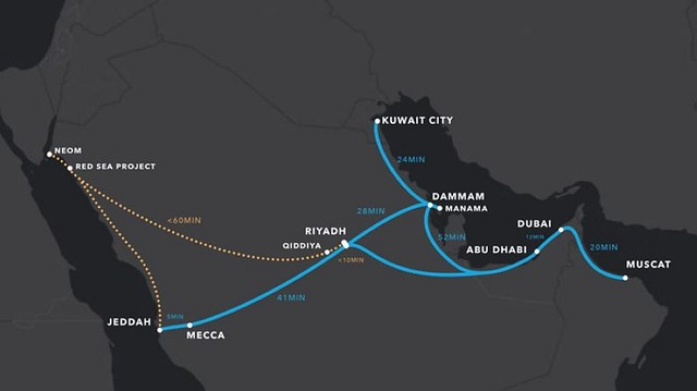5020 Jeddah to Riyadh only in 46 minutes through Hyperloop Technology 01