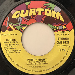 CURTIS MAYFIELD:PARTY NIGHT(LABEL SIDE-A)