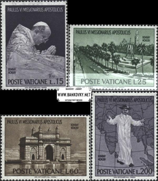 Známky Vatikán 1964 Svetový kongres, neraz. séria
