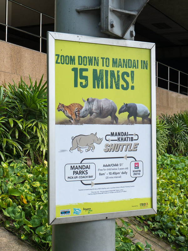 Shuttle bus to Singapore Zoo