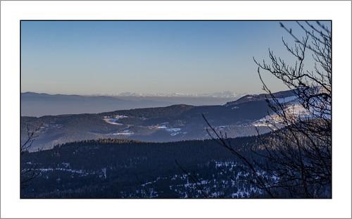 Les Alpes Suisses vue des Trois Fours (Haut-Rhin)