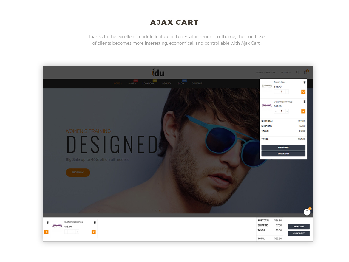 Ajax cart-Bos Idu Prestashop theme-Shoes, Handwatch, Fashion Store