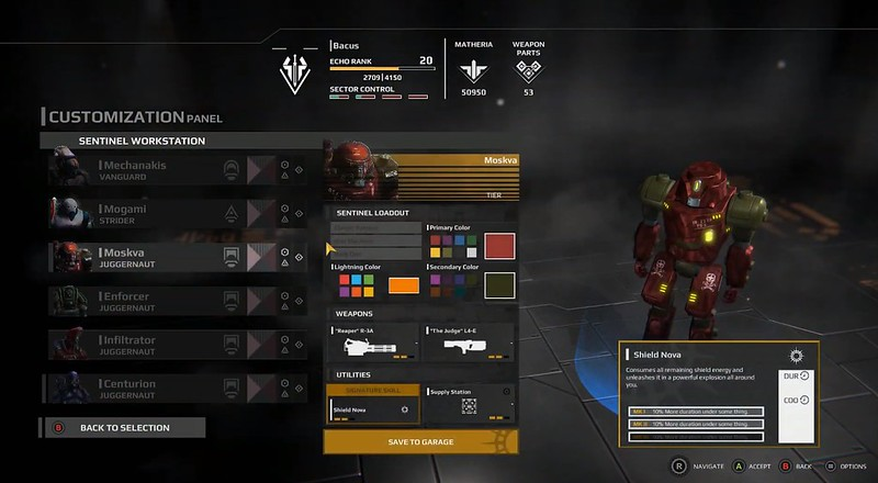 Trident's Wave - Mech Customization