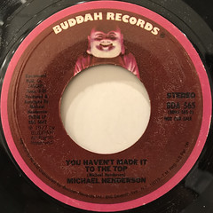 MICHAEL HENDERSON:YOU HAVEN'T MADE IT TO THE TOP(LABEL SIDE-B)