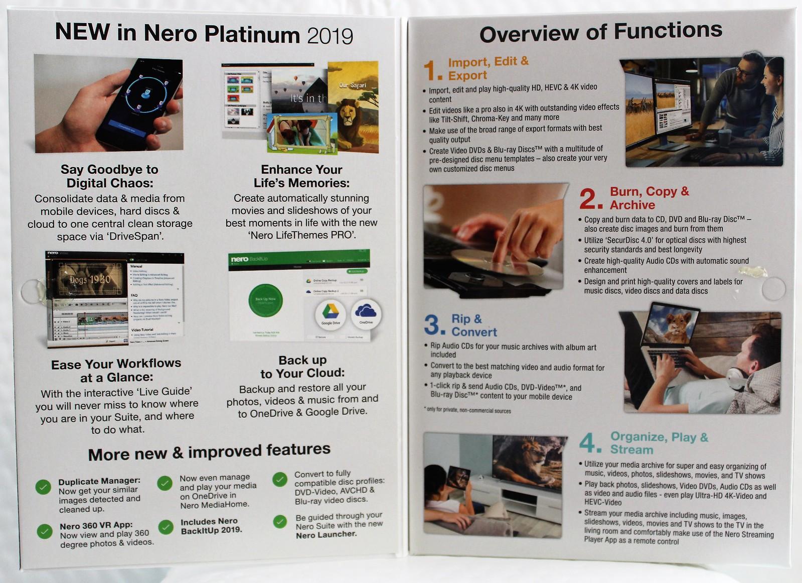 Nero 2019 Platinum New Sealed