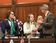 Rep. Ackert introduces Morgan Bonaiuto and her mom Jennifer on the House Floor