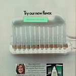 Mon, 2019-01-21 11:43 - Grooming/hygiene advert for Pearl Drops with spearmint scratch and sniff strip.  Caption: 'Try our new flavor.'  Published in Seventeen magazine, January 1973, Vol. 32 No. 1  Fair use/no known copyright. If you use this photo, please provide attribution credit; not for commercial use (see Creative Commons license).