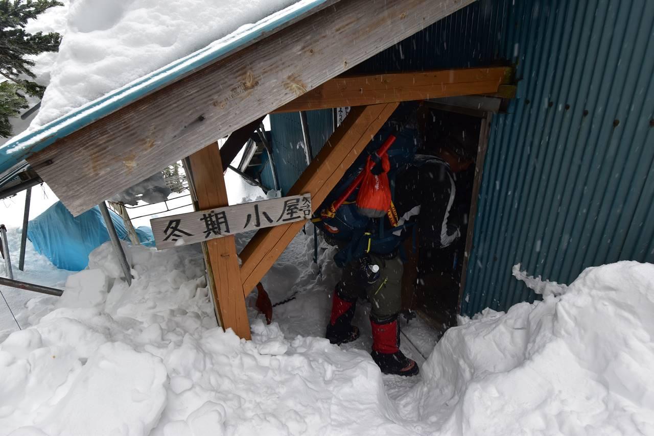 三伏峠小屋 冬季避難小屋