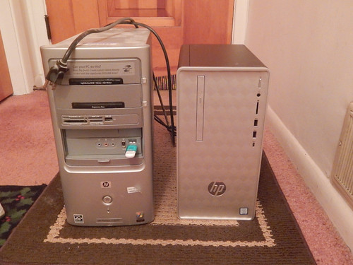 Old computer and new computer