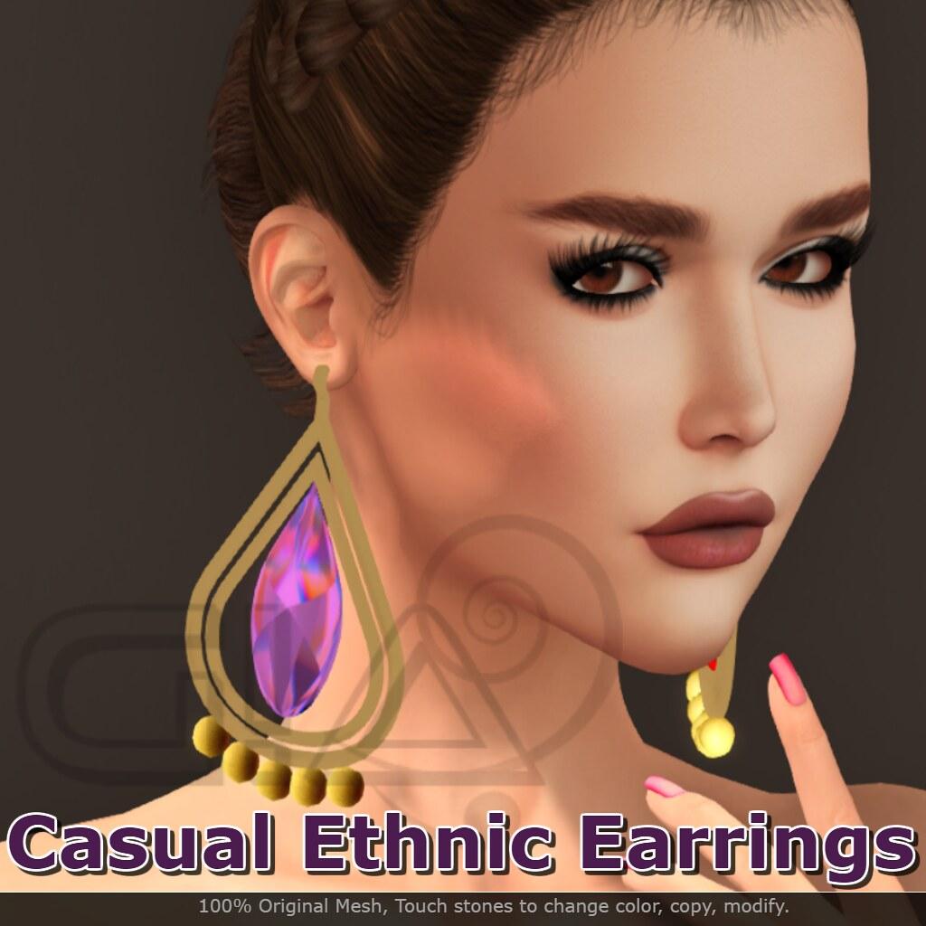 Casual Ethnic Earrings Vendor - TeleportHub.com Live!