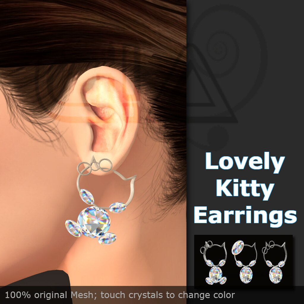 lovely kitty earrings vendor
