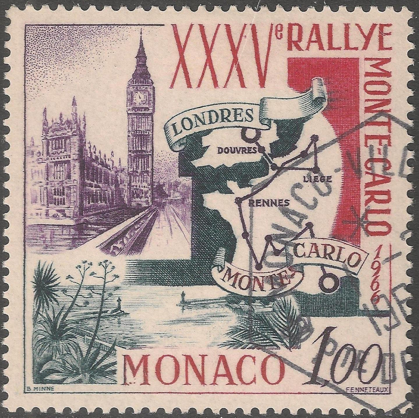 Monaco - Scott #629 (1966) used