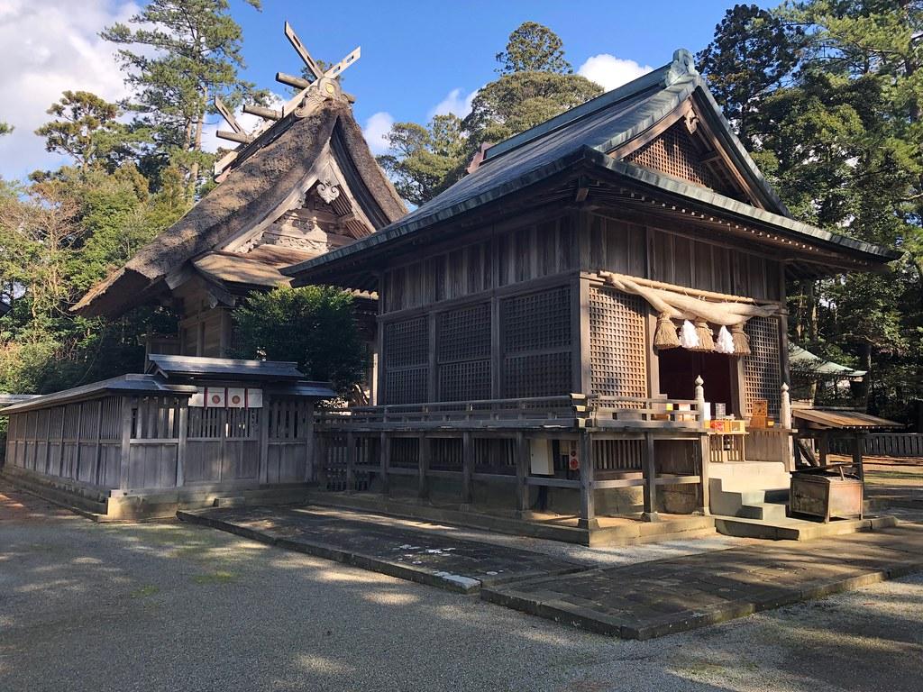 水若酢神社 拝殿本殿