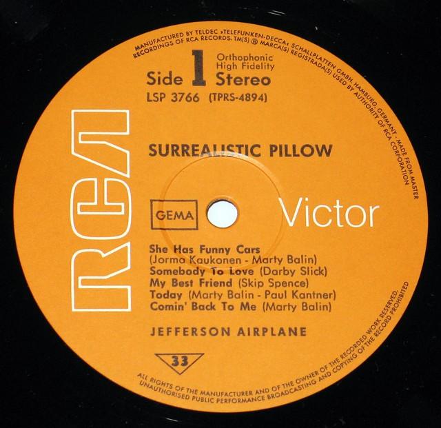 """Jefferson Airplane Surrealistic Pillow 12"""" Vinyl LP"""