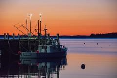 Rockland fishing boat at sunrise