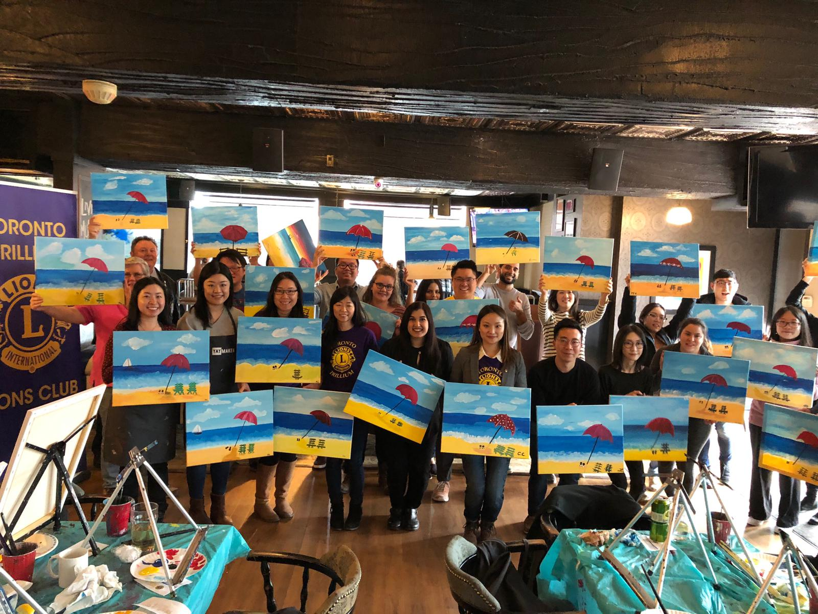 Toronto Trillium Lions Club goes to Paint Nite