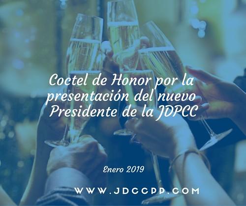 Coctel de Honor por la presentación del nuevo Presidente del JDCCPP