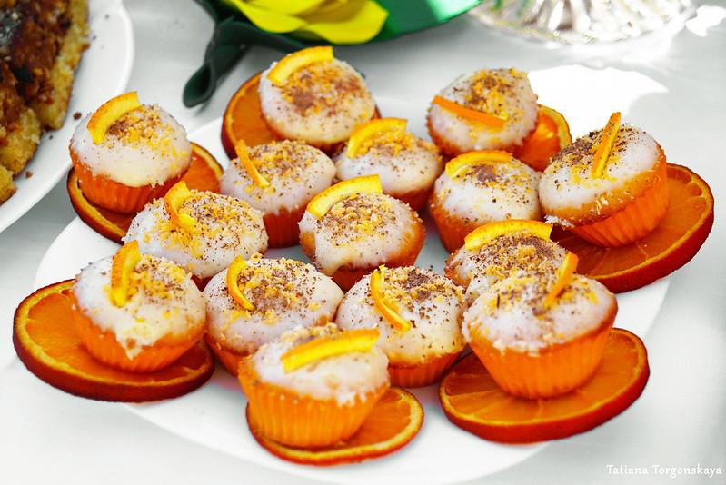 Маффины на апельсине
