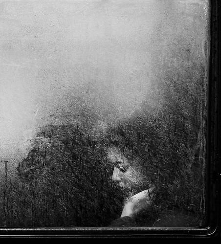 Steamy bus window by Mark Fearnley