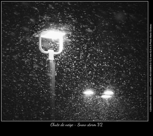 Chute de neige - Snow storm V2