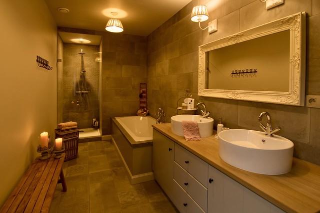 Badkamer landelijk romantisch