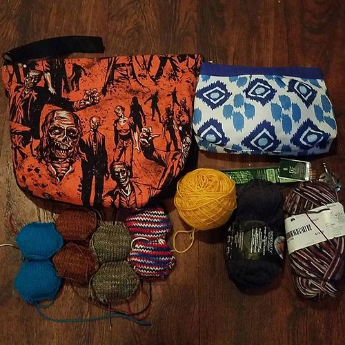 "#yarnlovechallenge2019 day 11: pack #fiberuarychallenge day 11: fingering or bulky or... I'm posting a day late because I had oral surgery yesterday. I'm glad I am able to do both if yesterday's prompts in one post. Right now my ""on the go"" knitting is he"